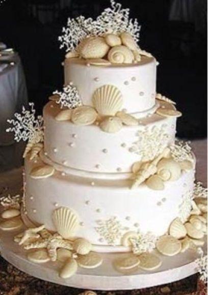 bolo de casamento temático praia