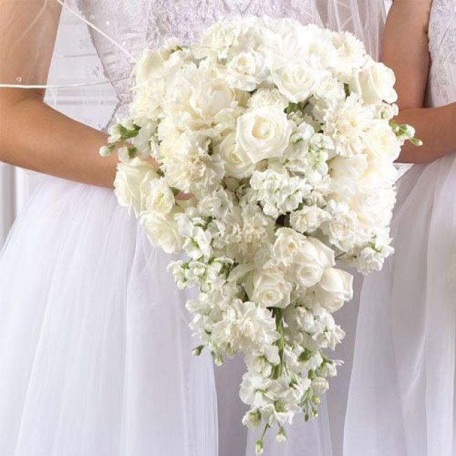 bouquet cascata branco