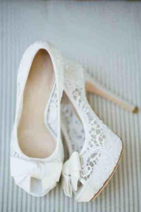 sapato de renda noiva