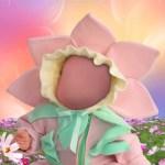 Fotomontaje bebé flor.