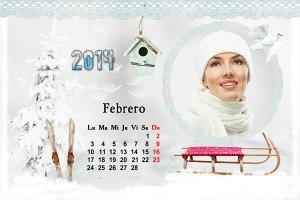 Calendario 2014 Mes Febrero
