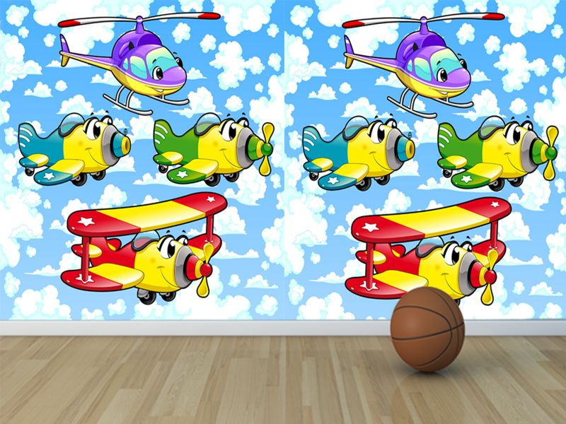 Fotomural decorativo infantil avioncitos aventureros for Fotomurales infantiles