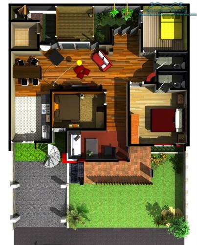 Denah Rumah Minimalis 1 Lantai  (5)
