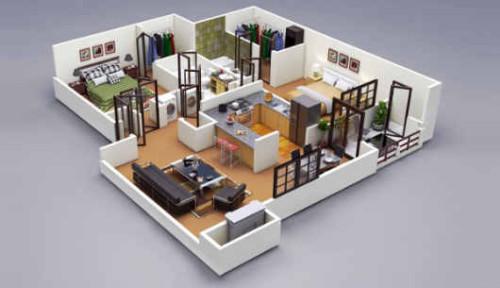 Denah Rumah Minimalis 1 Lantai  (8)