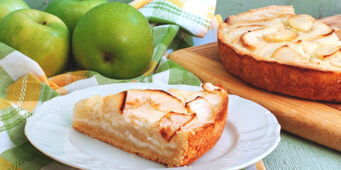 Пирог с яблоками рецепты с цветаевский