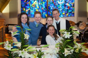 Rev. Kirk Miller with his Family