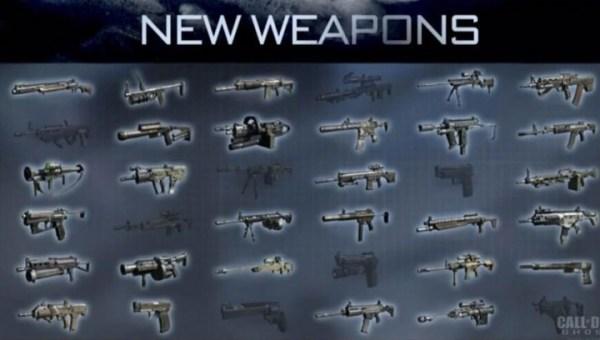 CoD:ゴースト:『マルチプレイヤー武器』リスト [更新]