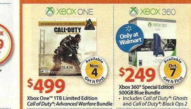 CoD: ゴーストとCoD:BO2同梱の青いXbox 360発売?ウォルマートのチラシからリークか