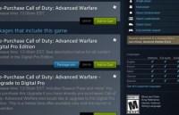 CoD:AW:海外Steamで事前ダウンロードが開始、アンロック時刻は11/3 14:01
