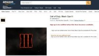 CoD:BO3:早くもAmazon.comへ登録