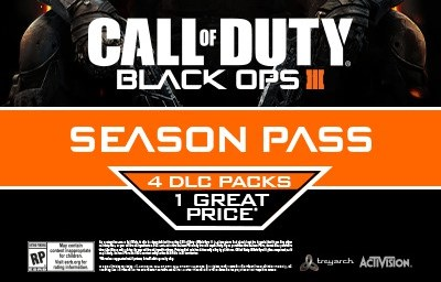 CoD:BO3:DLC 4種の登場とシーズンパスが確定か