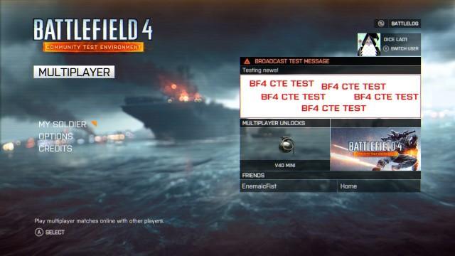"BF4:Xbox One版""CTE""、本日リリース"