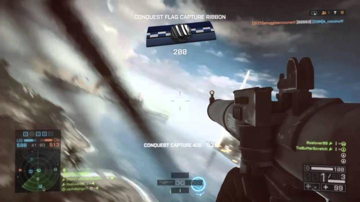 BF4:超精度!ヘリの後部座席からSMAWでヘリとジェットを連続撃墜
