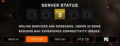 【復旧済】『CoD:BO3』のサーバーに問題発生中、不安定な状態に(PS4, Xbox One, PC)