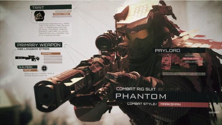 """CoD:IW:マルチプレイヤー基本となる6種のロードアウト""""コンバットリグ""""詳細"""