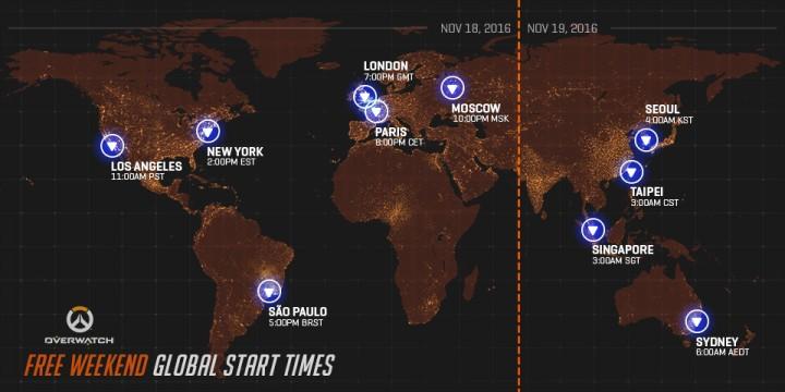 オーバーウォッチ:期間限定の無料プレイ実施、11月19日より開催 (PS4, X1, PC)