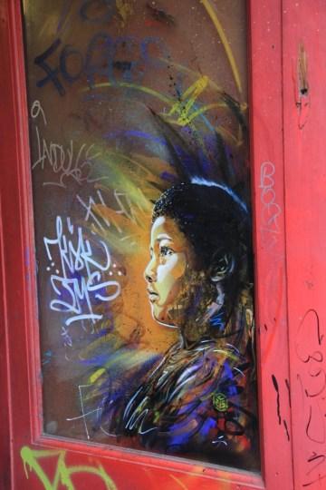 street art - Londres, UK Stencil - C215