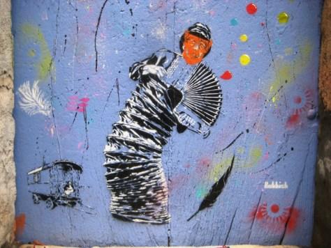 besancon 10.12.12 street art - porte - Rubbish - pochoir (2)