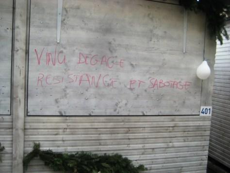 besancon 10.12.12 vinci dégage - résistance et sabotage