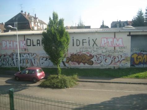 phnk, fleek, ecler, idfix, ptm, elok, kafir, lynx, laser - graffiti - strasbourg 2013