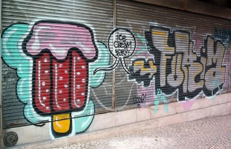 ice cream fury - graffiti -lisbonne