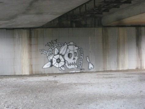 flower and skull_graffiti_VNV_besancon_janvier_2014 (1)