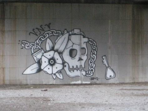 flower and skull_graffiti_VNV_besancon_janvier_2014 (2)