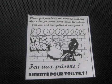 besancon-fevrier 2014 sticker - feu aux prisons