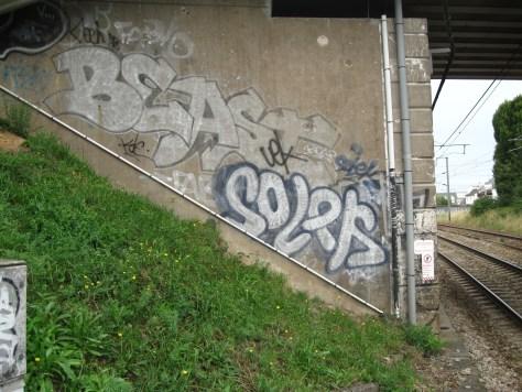 graffiti Rennes Aout 2012 - beast, solek