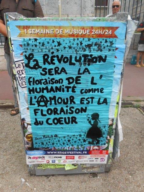 besancon, juin 2014 affiche - révolution - floraison - louise michel
