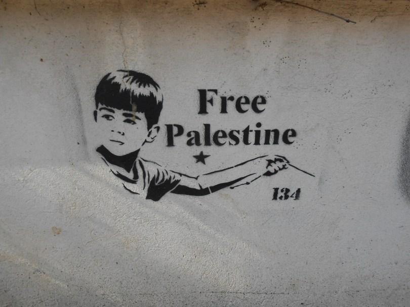 free Palestine - pochoir - besanocn - 2015 (1)