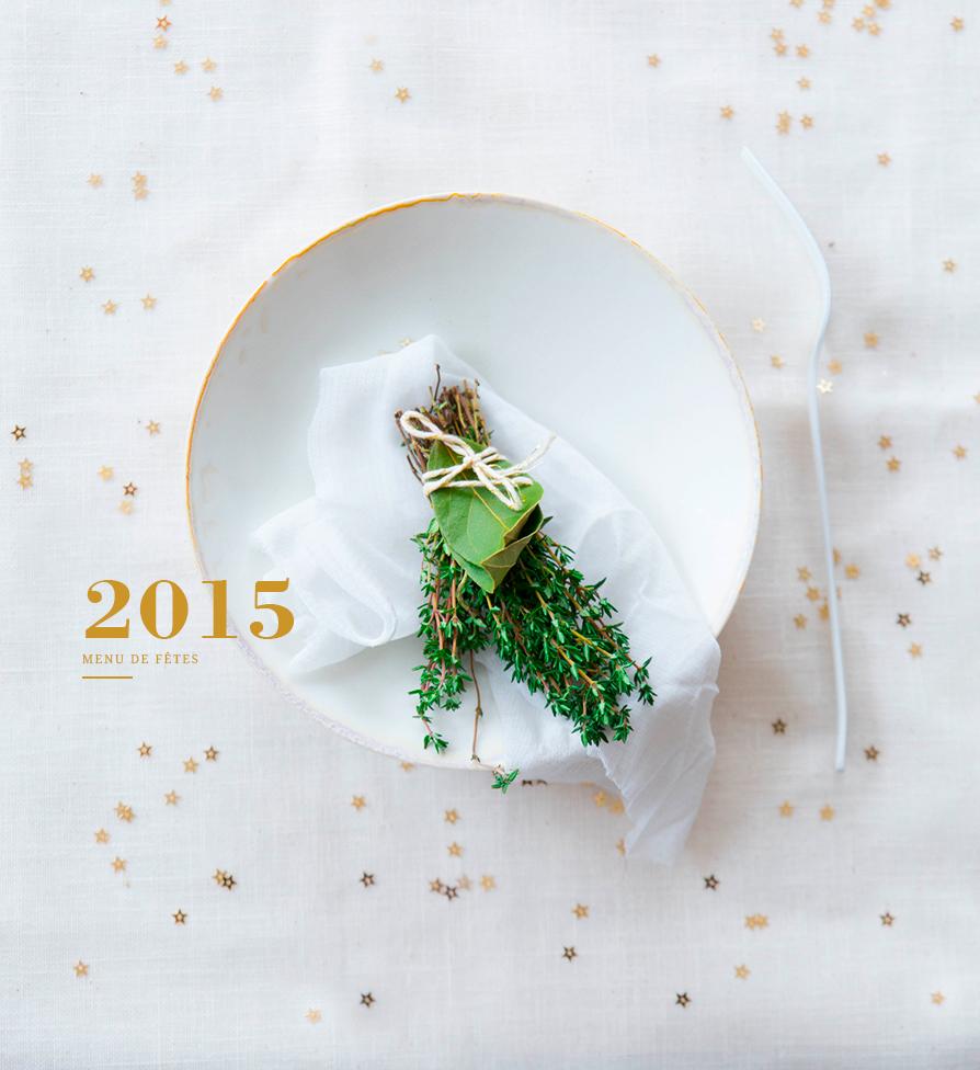 Menu de fêtes ©Fraise & Basilic