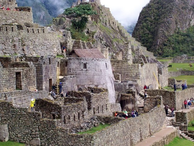 Tower of the Sun buildings at Machu Picchu, Urubamba Province, Peru