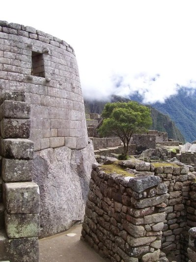 Tower of the Sun at Machu Picchu, Urubamba Province, Peru