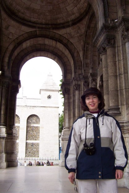 Basilique du Sacre Coeur - Jean at front entrance - Montmartre - Paris