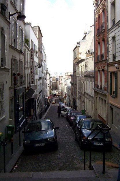 Cobbled stone streets of Paris - France
