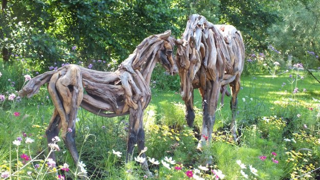 Horse Made From Wood - Mosaiculture - Montreal Botancial Gardens