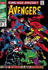 Stan Lee The Avengers King Size Special #2 Canvas