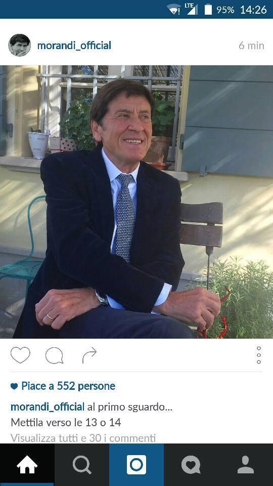 Anche Gianni Morandi ha un social media manager. Embé?
