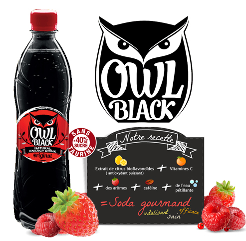 Owl Black Fruits rouge