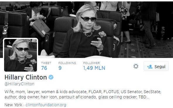 Direi che Hillary Clinton non ha bisogno di Seo sul suo twitter