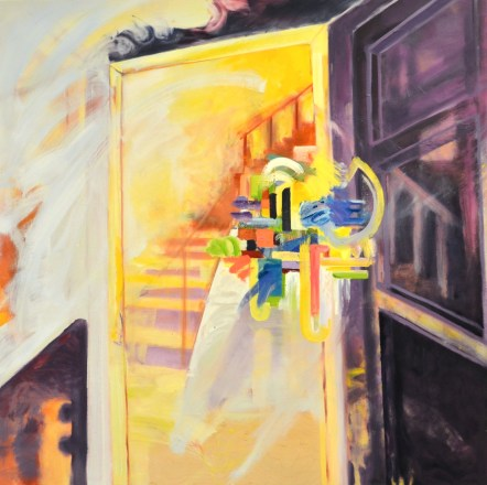 """Yellow Stairs"". Oil on Panel. 2015"