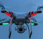 DJ1 Phantom Quadcopter Drone in flight