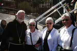 Franciscan Sisters with Cardinal Sean at the border