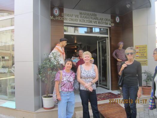 Visiting a cultural center