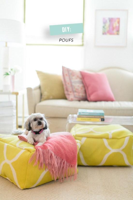 DIY Floor Pouf via Style Me Pretty Living   Francois et Moi