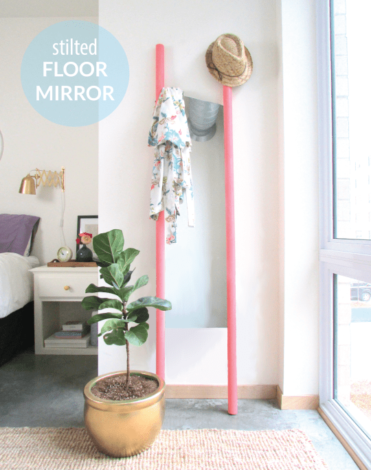 stilted floor mirror diy | francois et moi