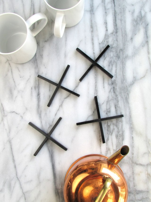 Top DIY Projects of 2015: X Shaped Coasters | Francois et Moi