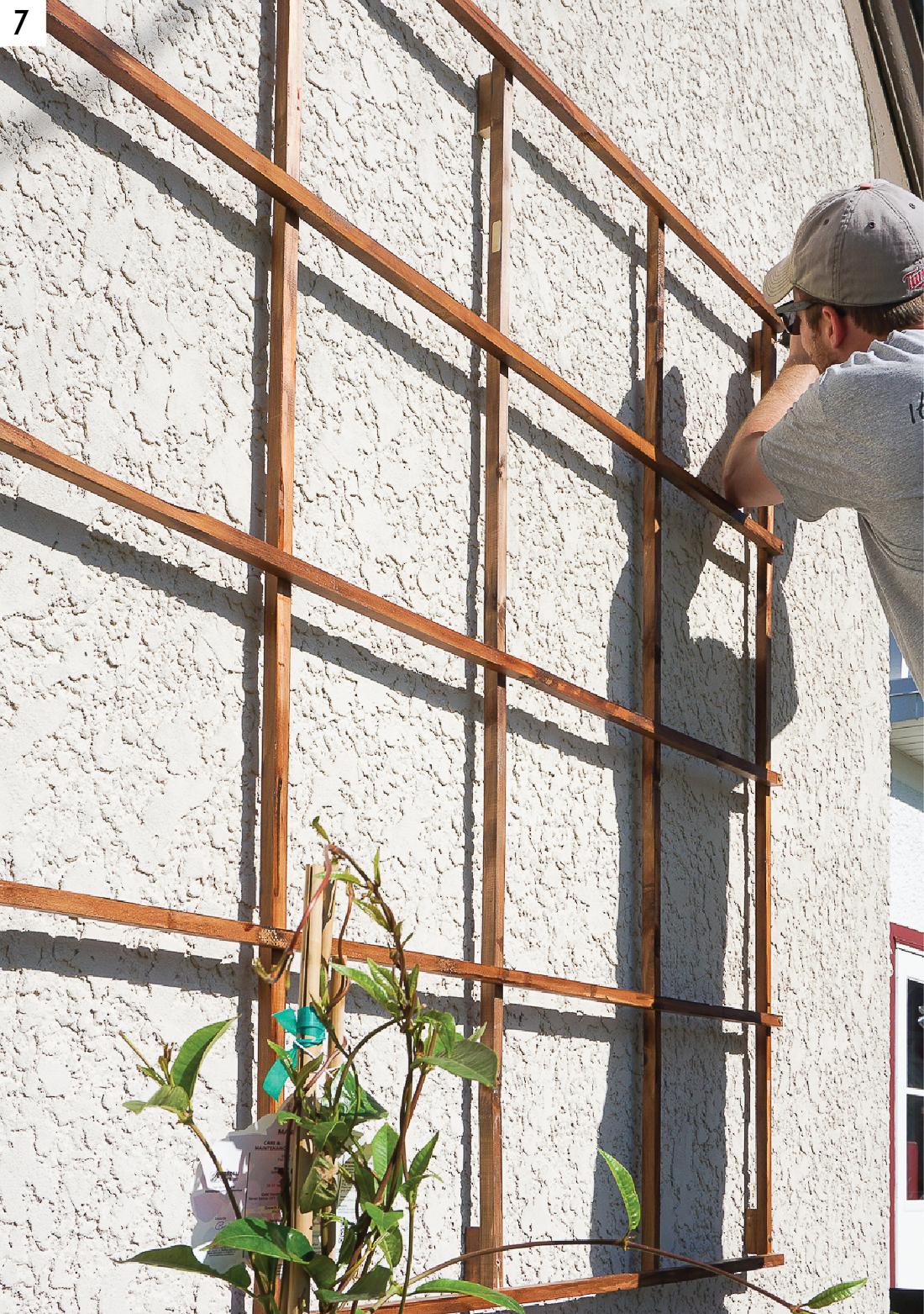 Build a Modern Grid Trellis from Garden Stakes - Francois et Moi