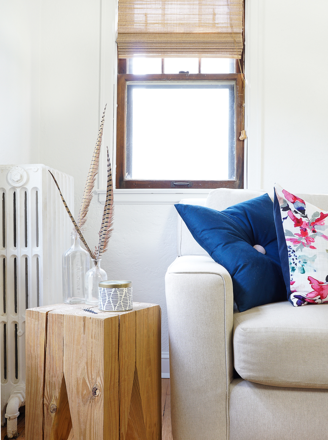 Custom-fit woven window shades are a pretty penny, so if you can't find your window size off-the-shelf, learn exactly how to cut them down to size yourself.
